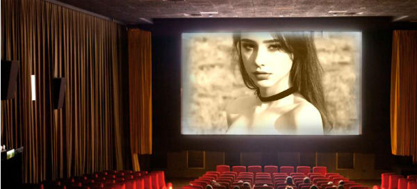 Your photo appears on the movie screen!