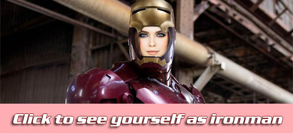 How will you look if you were Iron Man?