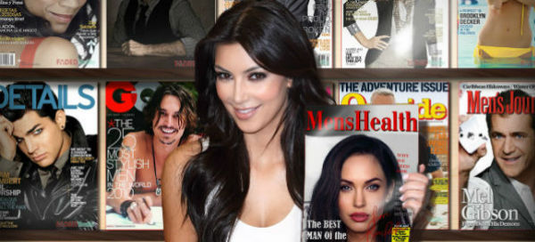 Let`s show your magazine with Kim Kardashian`s signature