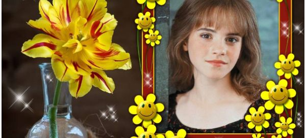 Want to see your lovely photo with yellow flowers frame ? Click here!